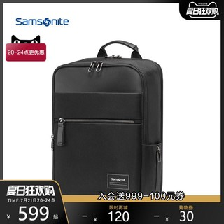 Samsonite/新秀丽双肩包男 挺括立体有型背包14寸大容量电脑包TT0