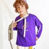 一贝皇城男童2019春纯棉印花长袖T恤中大童舒适打底衫宽松套头衫 1119101016 紫色 120cm