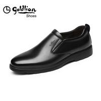 金利来(goldlion)男鞋正装商务休闲鞋舒适轻便透气皮鞋503830133AAA-黑色-40码