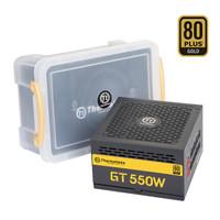 Tt(Thermaltake)额定550W GT 550W 台式机电脑主机机箱电源(80PLUS金牌/全模组/全日系电容/静音风扇)