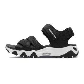 Skechers斯凯奇官方 女鞋lites厚底增高熊猫鞋休闲凉鞋88888182+凑单品