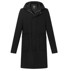 gxg呢大衣_【省765元】黑色外套_GXG 174826686 中长款连帽毛呢大衣-什么值得买