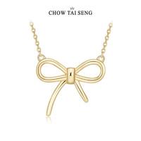 CHOW TAI SENG 周大生 S0PC0034 S925银蝴蝶结锁骨链