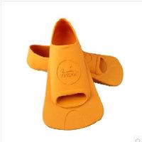 英发(YINGFA) 英发短脚蹼  专业 游泳训练 脚蹼鸭蹼 橡胶 橘色 XS(36-38)