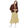 UNIQLO 优衣库 女士雪纺打褶风琴半身长裙429209
