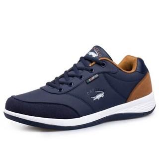 CARTELO 卡帝乐鳄鱼 CQ8291 卡帝乐鳄鱼(CARTELO)男鞋 时尚潮流运动休闲鞋子 男士板鞋韩版跑步鞋 CQ8291 深蓝 42码