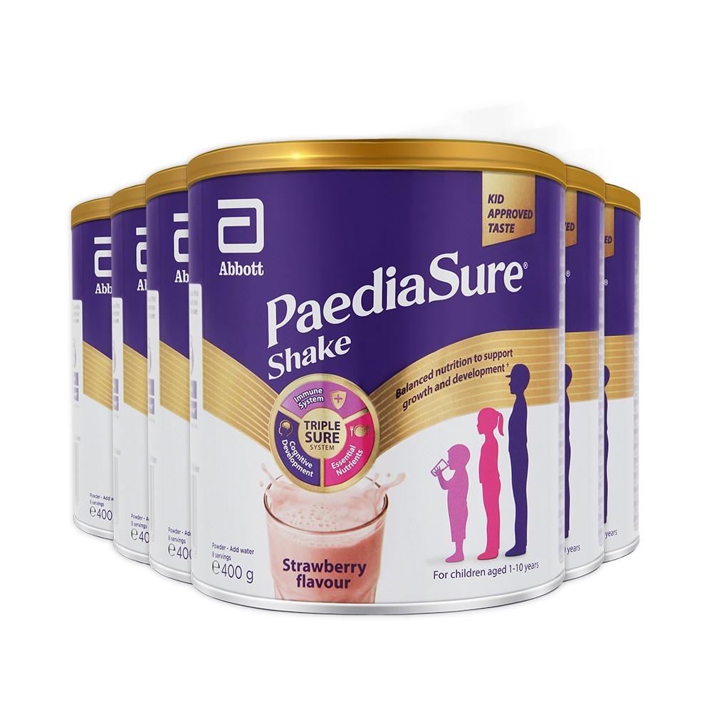 Abbott 雅培 婴幼儿童小安素营养牛奶粉草莓味 400g 6罐装