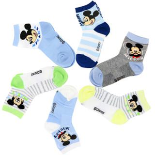 Disney 迪士尼 6614 儿童棉袜 6双装 16-18cm 4-6岁 *6件