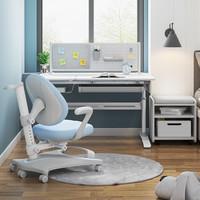 西昊儿童学习桌小学生书桌家用实木写字桌椅套装可升降课桌椅书柜