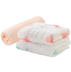 misslele 米乐鱼 婴儿口水巾 小粉蝶 3条 *3件