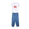anna&jeese 安娜與杰西 女童夏季印花套裝 AIT20008 白色/藍色 130cm