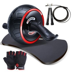 KANSOON 凯速  自动回弹健腹轮 送健身手套+加厚跪垫+跳绳