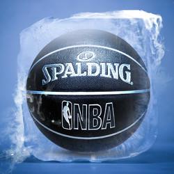 斯伯丁篮球NBA正品学生比赛室外室内耐磨水泥地7号真皮手感5儿童6