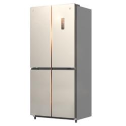 JIWU 苏宁极物 小biu系列 JQE4428XPI 十字对开门冰箱 440L 泰坦银