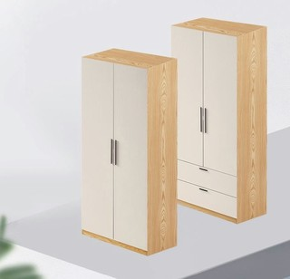 林氏木业 JC1D-A 简约现代双门衣柜