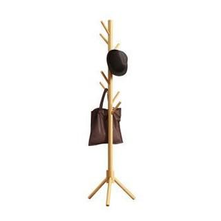 佳佰 B-YG-Y-FA2516-1 创意落地衣架 原木色三角款