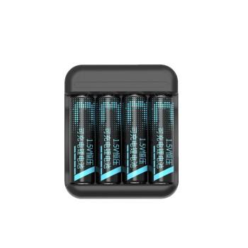 京东京造 5号电池 1.5V恒压锂电池 充电电池 4节快充套装 3000mWh
