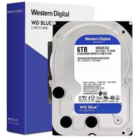 Western Digital 西部数据 蓝盘 台式机硬盘 (6TB、5400rpm、256MB) WD60EZAZ