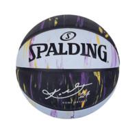 SPALDING 斯伯丁 科比典藏系列 橡胶篮球 84-131Y 7号球 大理石印花蛇纹