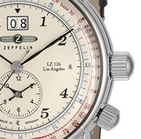 ZEPPELIN 齐柏林飞艇 LZ126 Los Angeles 8644-5 时装腕表 41.5mm 米色 棕色 牛皮