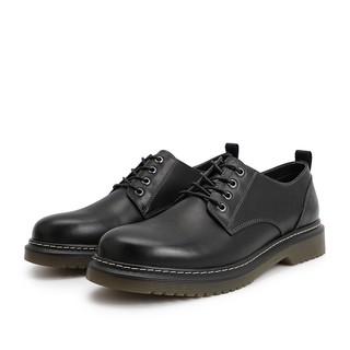 BeLLE 百丽 28137AM9 男款休闲皮鞋 黑色 39