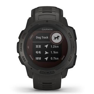 Garmin佳明 instinct 本能光动太阳能运动智能手表户外GPS血氧登山腕表 太阳能运动版 石墨灰