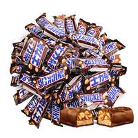 花生巧克力1000g散装喜糖果休闲零食品家庭批发夹心小吃