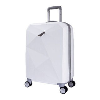 法国大使(Delsey)拉杆箱  时尚 PC旅行箱防爆拉链万向轮行李箱 0619 白色 20英寸-无侧把 可登机