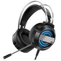 woying 渥赢 Q9 耳罩式头戴式有线耳机 黑色 3.5mm/USB