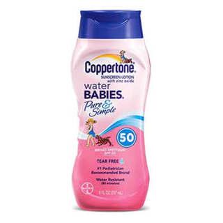 Coppertone 确美同 水宝宝纯净防晒霜 SPF50 237ml *2件
