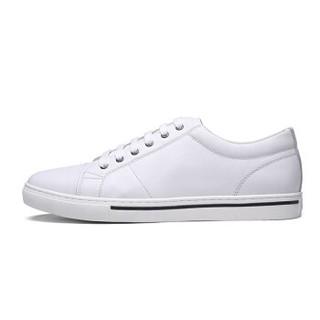 goldlion 金利来 598810101BPB 男士休闲单板小白鞋 白色 42