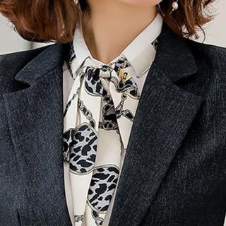 米兰茵(MILANYIN)女装2019秋新款时尚气质商务西装工装工作服职业套装 NYml187 衬衫 2XL