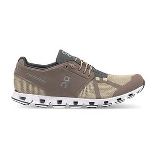 On昂跑 全天候轻量透气舒适男款运动跑步鞋 Cloud (Clay/Sand 土黄/沙白、40)