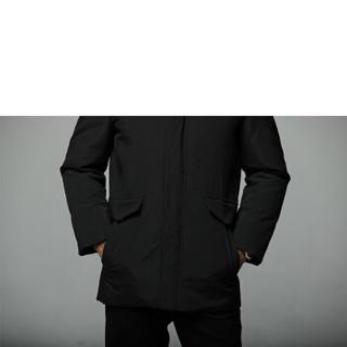 太子龙 TEDELON 羽绒服男 2019秋冬装青年装时尚防寒保暖服白鸭绒大毛领外套衣服 LWKS-805 蓝色 L