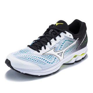 Mizuno美津浓运动鞋男跑步鞋缓冲 WAVE RIDER 22 J1GC183112 白/黑 39