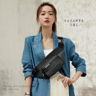 MONT BLANC 万宝龙 M_Gram4810系列中性印花拉链腰包U0127427 蓝色