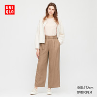 UNIQLO 优衣库 424932 女士麻混纺宽腿裤