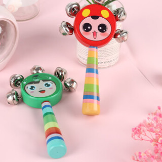 TaTanice 手摇铃铛 新生婴儿玩具 宝宝益智玩具 *6件