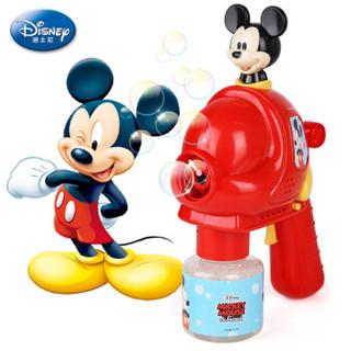 迪士尼电动声光泡泡枪儿童玩具 男孩女孩戏水玩具米奇 含泡泡液带音乐功效儿童节礼物 *2件
