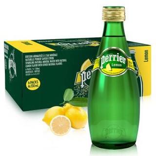 Perrier巴黎水柠檬味气泡水 330ml*24 玻璃瓶 整箱装 *3件