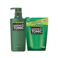 SUNSTAR TONIC 日本原装男士控油洗发水 清爽型组合装 瓶装480ml+替换装360ml