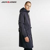 JACK JONES 杰克琼斯 218321531 连帽休闲中长款风衣