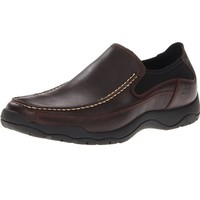 Timberland 添柏岚 Mt. Kisco Slip-On 男款真皮休闲鞋 Brown US7