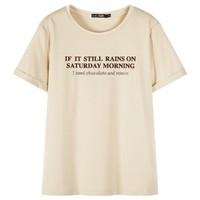 森马 12C059000303-5203 女士短袖t恤