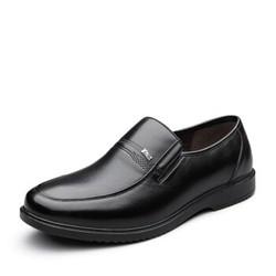 YEARCON 意尔康  6541ZE97689W 男士休闲套脚皮鞋 黑色 42
