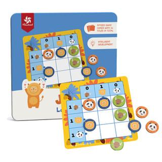 Pinwheel 磁性数独游戏棋教具小学生玩具亲子男孩女孩幼儿童生日礼物 3-5岁 丛林便携装 *2件