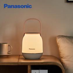 松下(Panasonic)台灯手提小夜灯睡眠喂奶哺乳卧室床头灯充电台灯节日创意礼品礼物 HHLT0248B 棕色