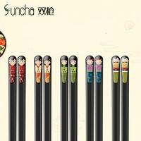 Suncha 双枪 合金筷子套装 人像款 24.2cm 5双装