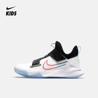 Nike 耐克官方 NIKE ZOOM FLIGHT (GS) 大童篮球童鞋 CK0787 101白色/闪电深红/尊贵翡翠绿/黑 39码