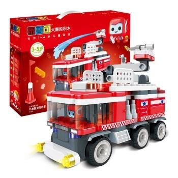 京东PLUS会员、PLUS会员:布鲁可 交通系列 布布百变消防车